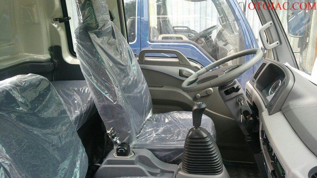 khoang cabin xe tải jac 7.25 tấn rộng rãi