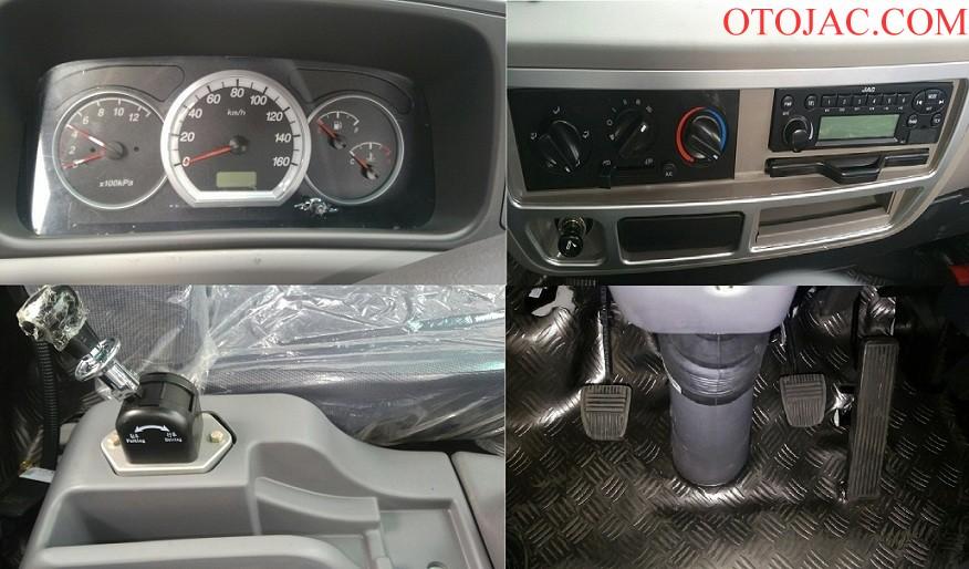 chi tiết nội thất xe tải jac 7.25 tấn