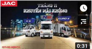 XE TẢI JAC- KHUYẾN MÃI KHỦNG THÁNG 11 – N200-N350 – X5 – EURO 2
